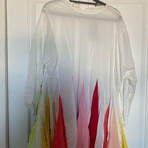 UVM white & rainbow dress